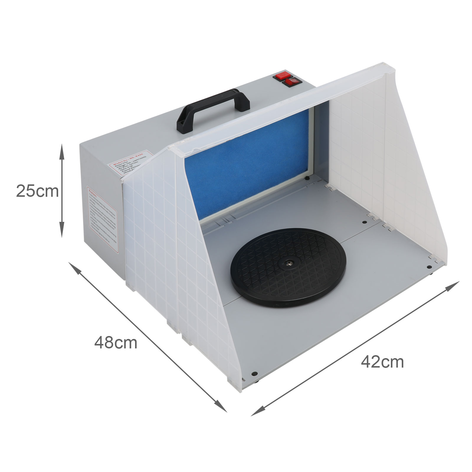 Portable Airbrush Spray Booth Hose Filter Extractor Air