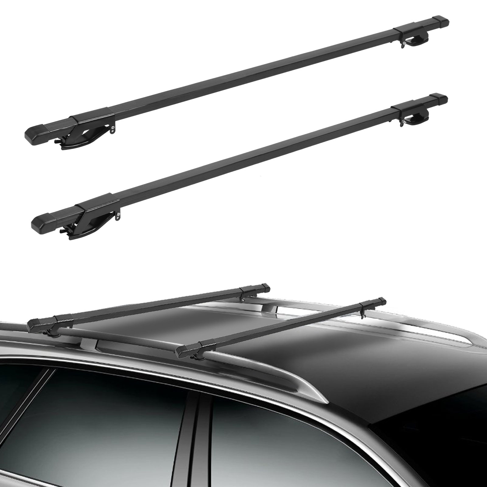 54 Quot Universal Car Top Roof Rack Cross Bars Luggage Carrier