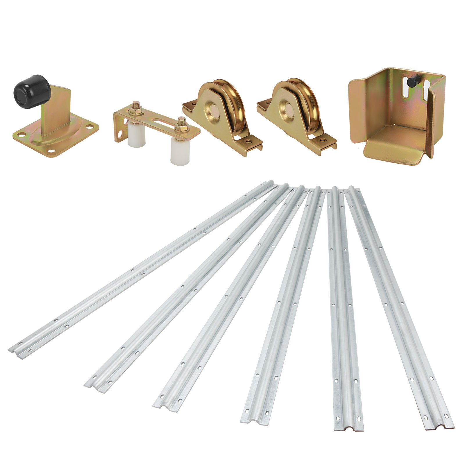 Sliding gate hardware accessories kit roller track stopper