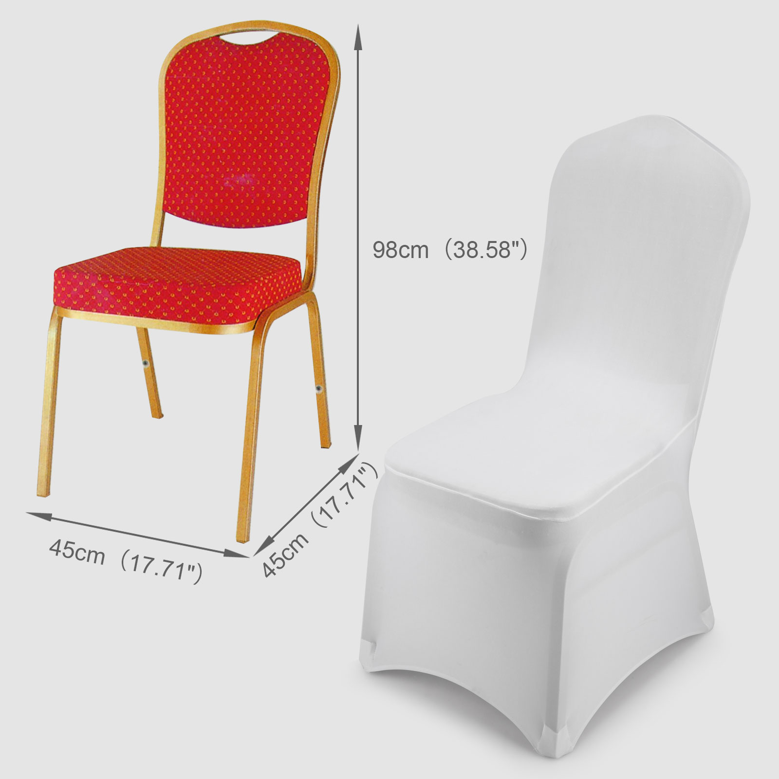 Universal White Polyester Spandex Folding Chair Covers Wedding Party Banquet