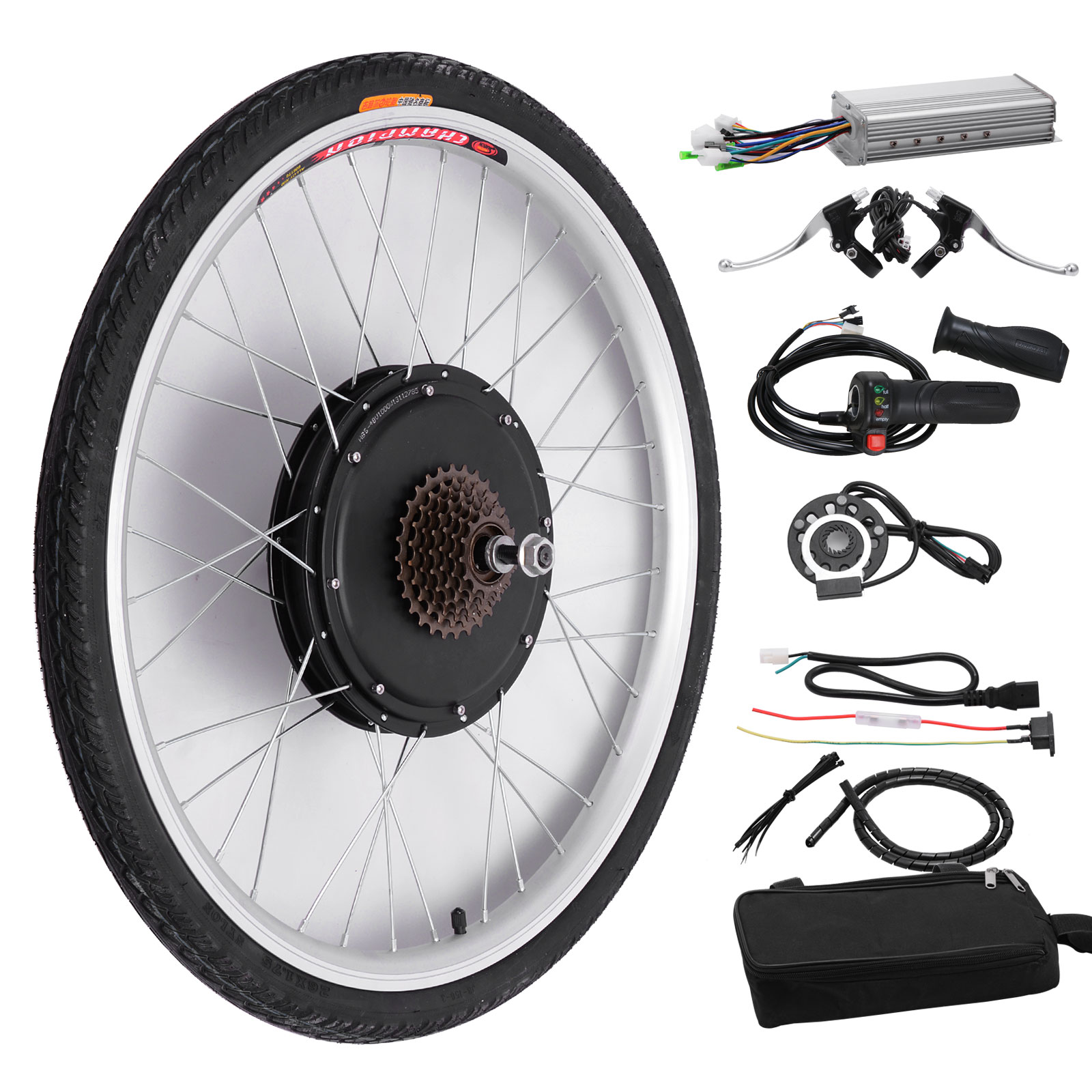 48v 1000w electric bicycle cycle e bike 26 conversion kit for Electric bike rear hub motor