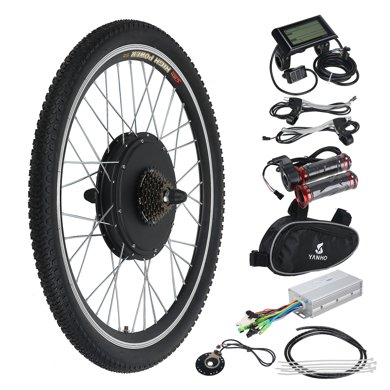 48v rear wheel electric bicycle e bike motor conversion. Black Bedroom Furniture Sets. Home Design Ideas