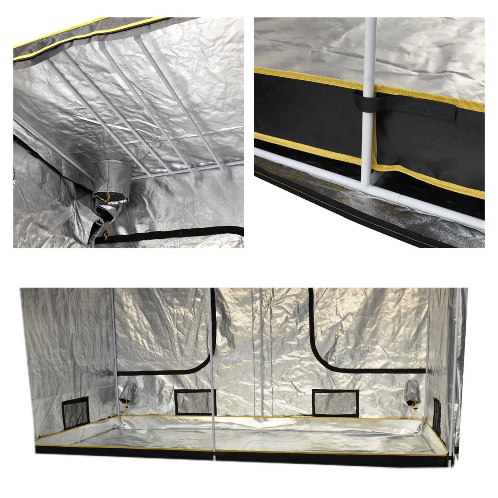quality hydroponics grow room tent aluminum. Black Bedroom Furniture Sets. Home Design Ideas