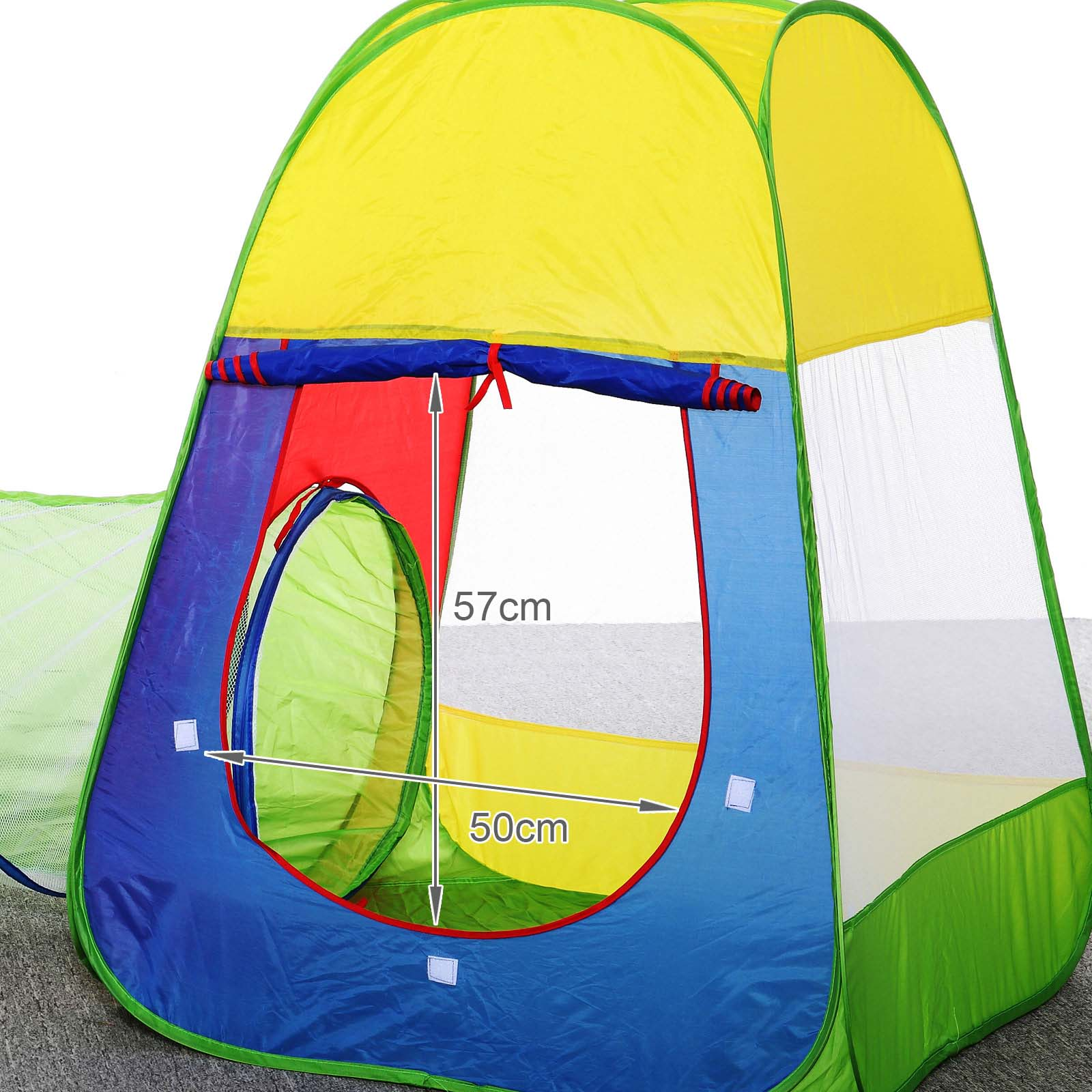 kids toddlers tunnel pop up play tent cubby playhouse indoor outdoor toy set new ebay. Black Bedroom Furniture Sets. Home Design Ideas