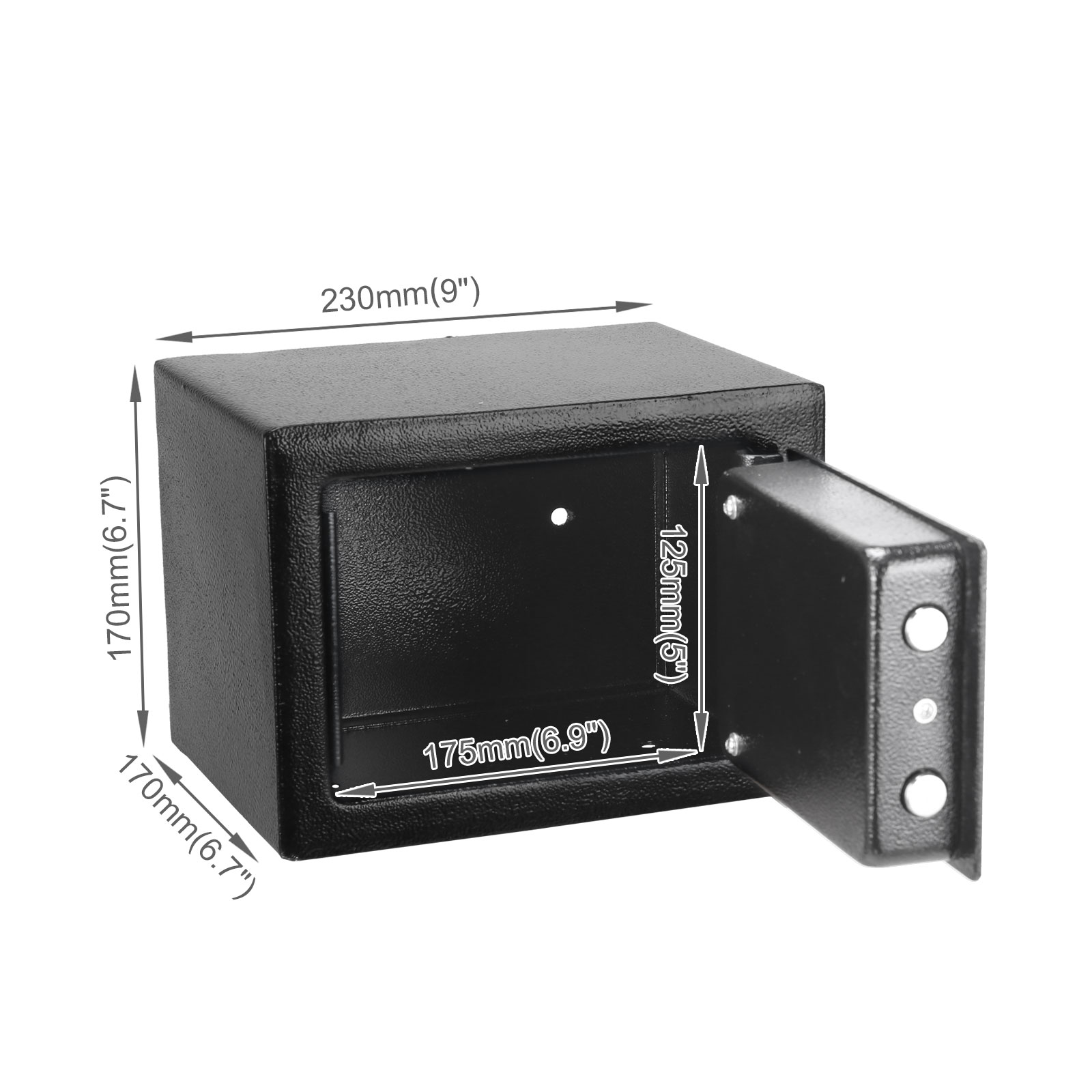 Black small mechanical safe box code lock home office for Small safe box for home