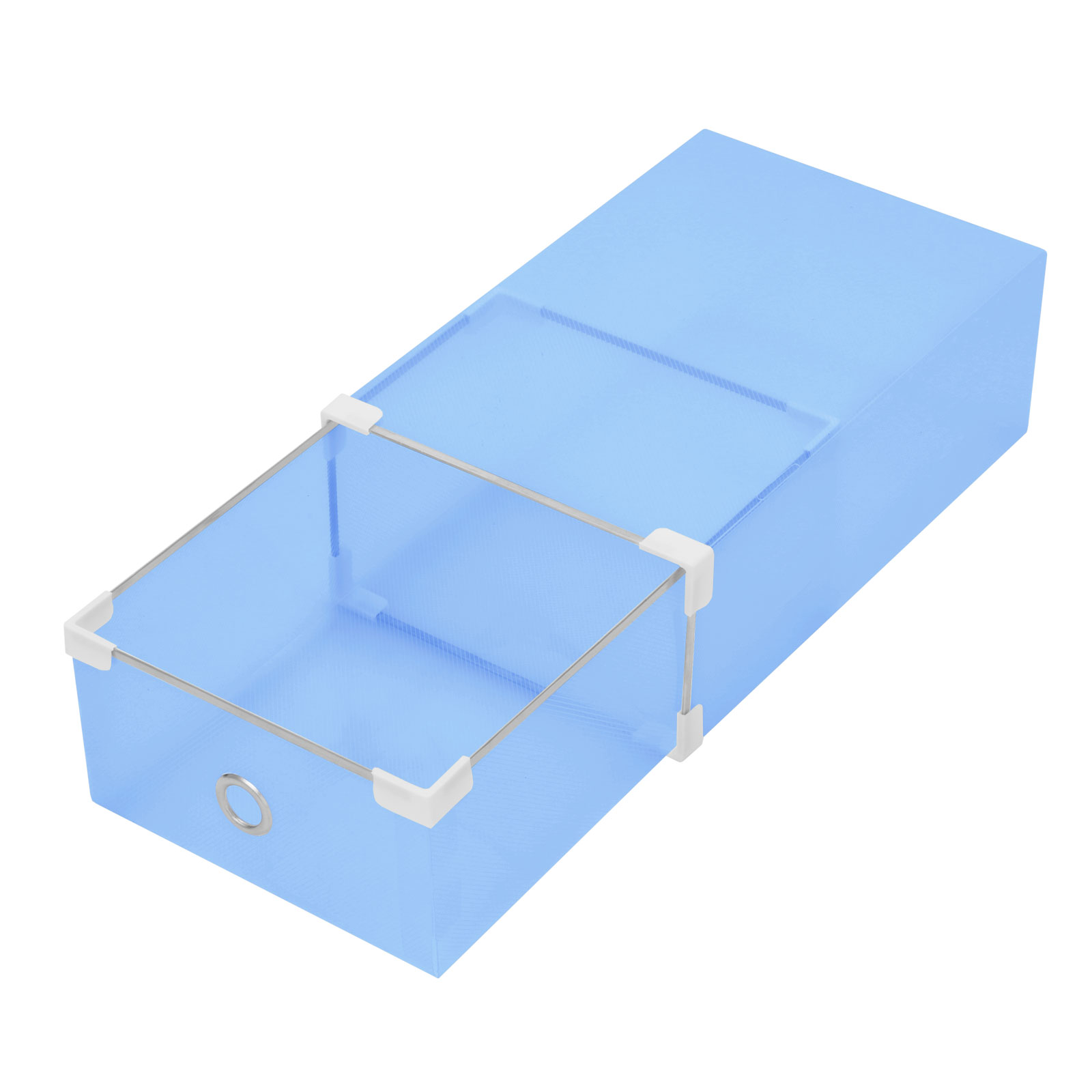 20 40 60pcs clear plastic shoe box drawer tray container wholesale lightweight ebay. Black Bedroom Furniture Sets. Home Design Ideas