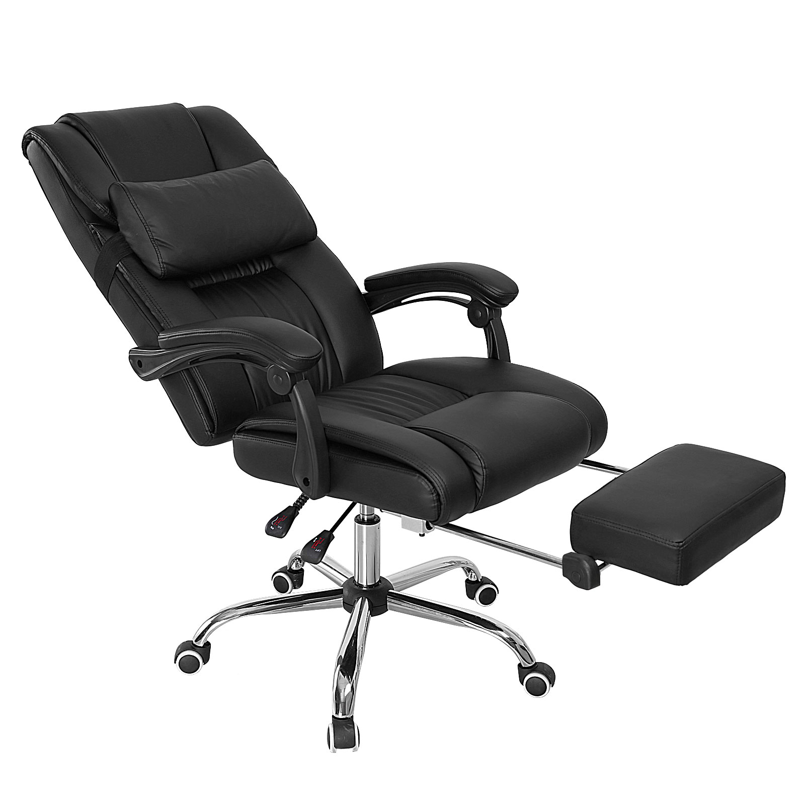 office chair executive recliner tilt computer padded seat footrest