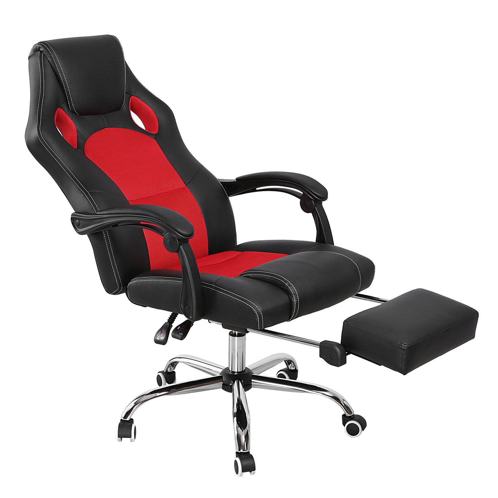 High Back Racing Chair Gaming Swivel Chair Black & Red