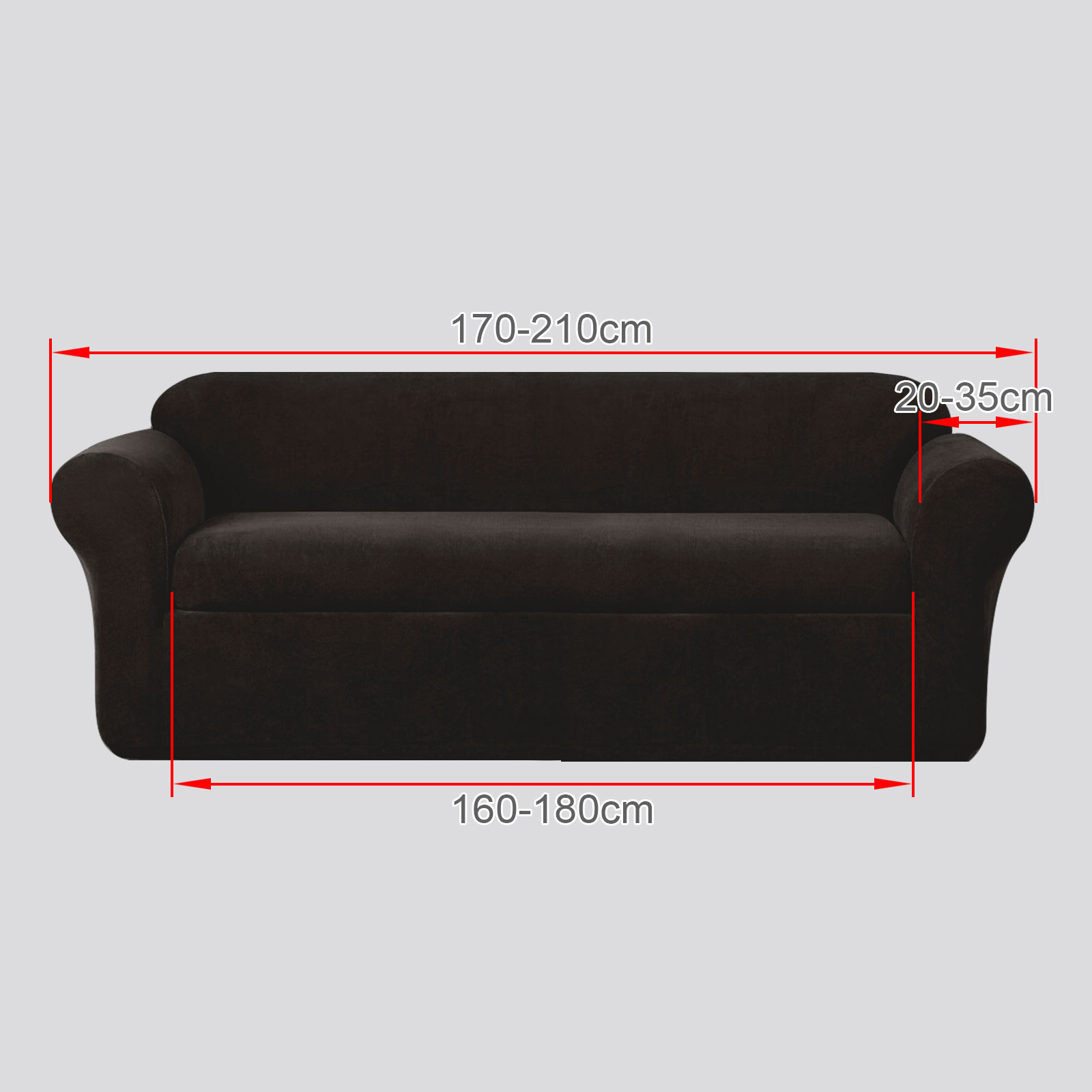 3 sitzer sofa sessel ersatz sofabezug staubschutz stretch husse schokolade neu ebay. Black Bedroom Furniture Sets. Home Design Ideas