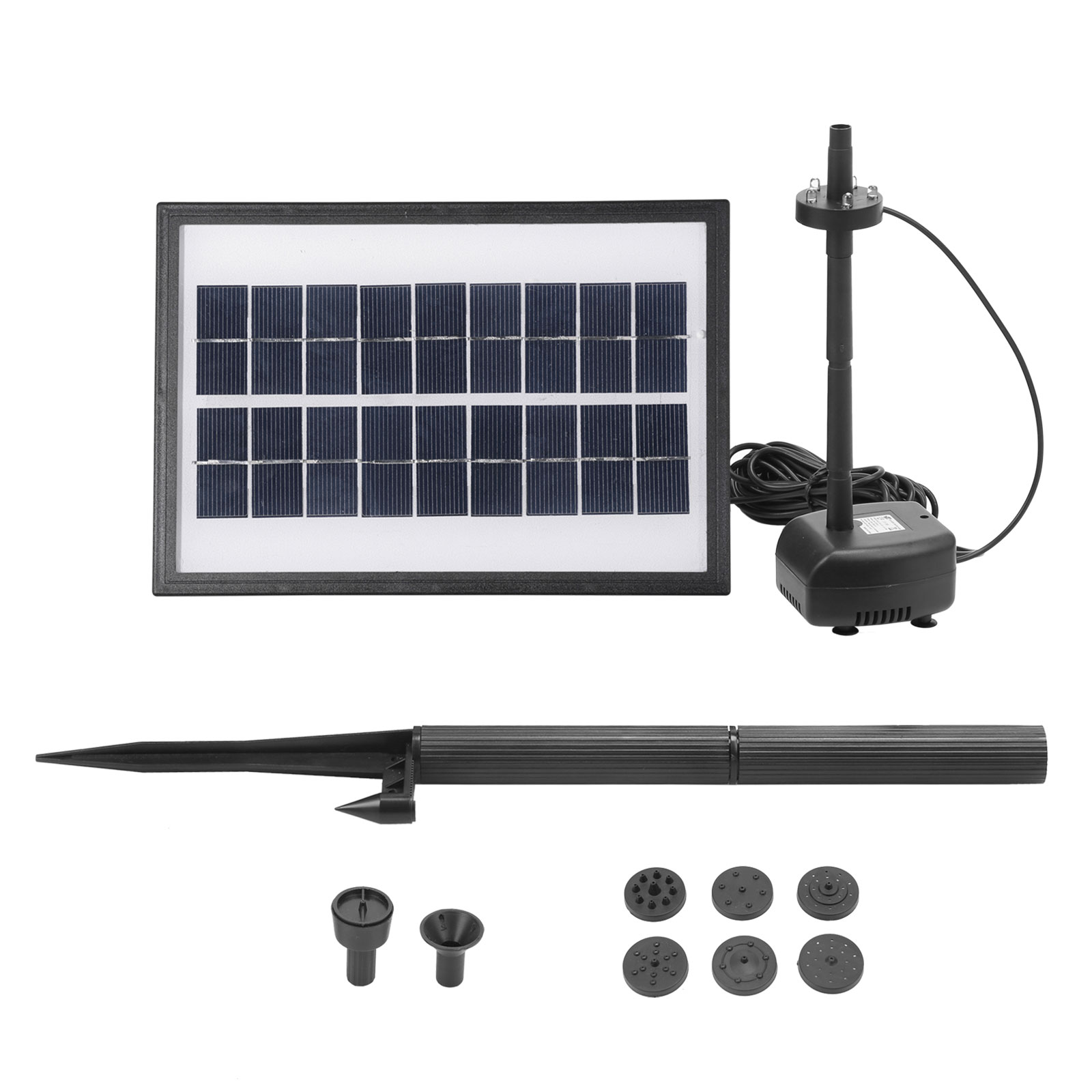 Solar Panel Power Water Pump Fountain Garden Pond Pool Submersible Feature Kit Ebay