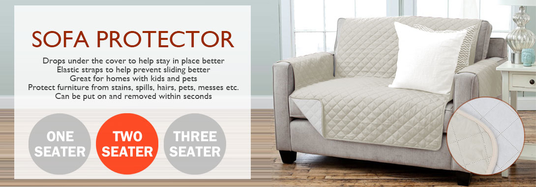2 Seater Latte Sofa Protector Couch Cover Dogs Cats Pets Pad Protect Furniture Ebay