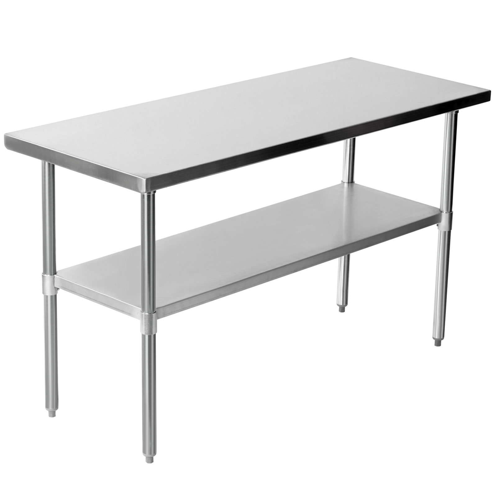 Commercial Stainless Steel Work Bench Kitchen Catering Table Shelf Backsplash Ebay