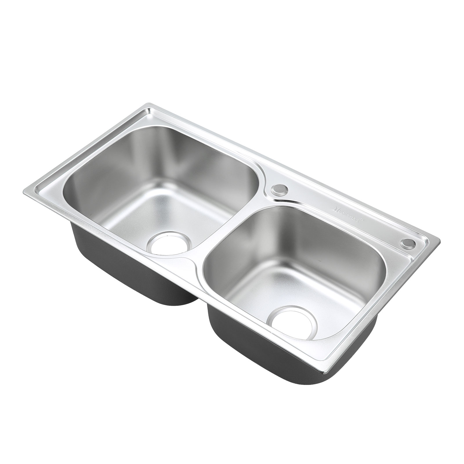 ... Stainless Steel Sink 830x430mm Kitchen Laundry Topmount Double Bowl