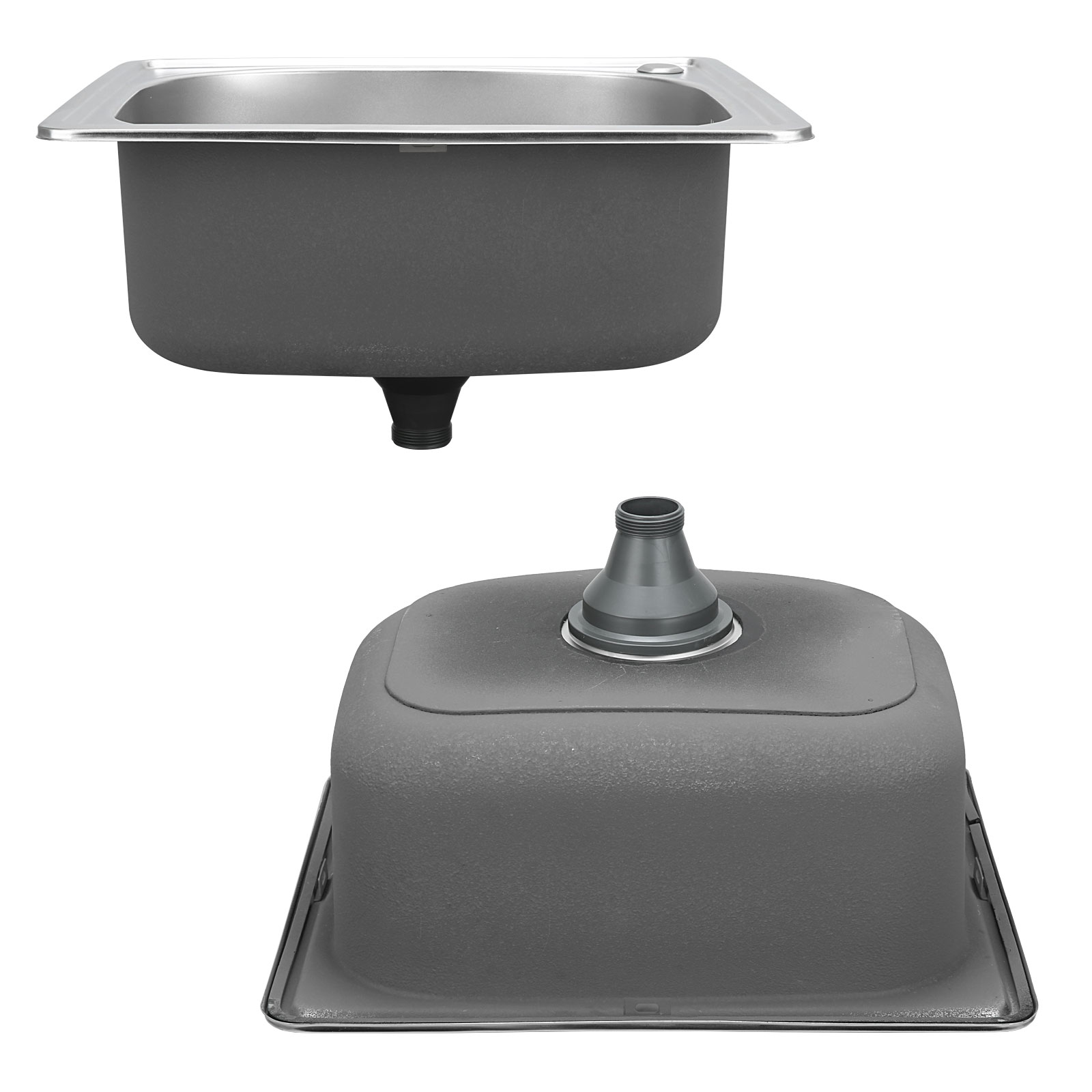 Single Square Bowl Laundry Stainless Steel Kitchen Sink