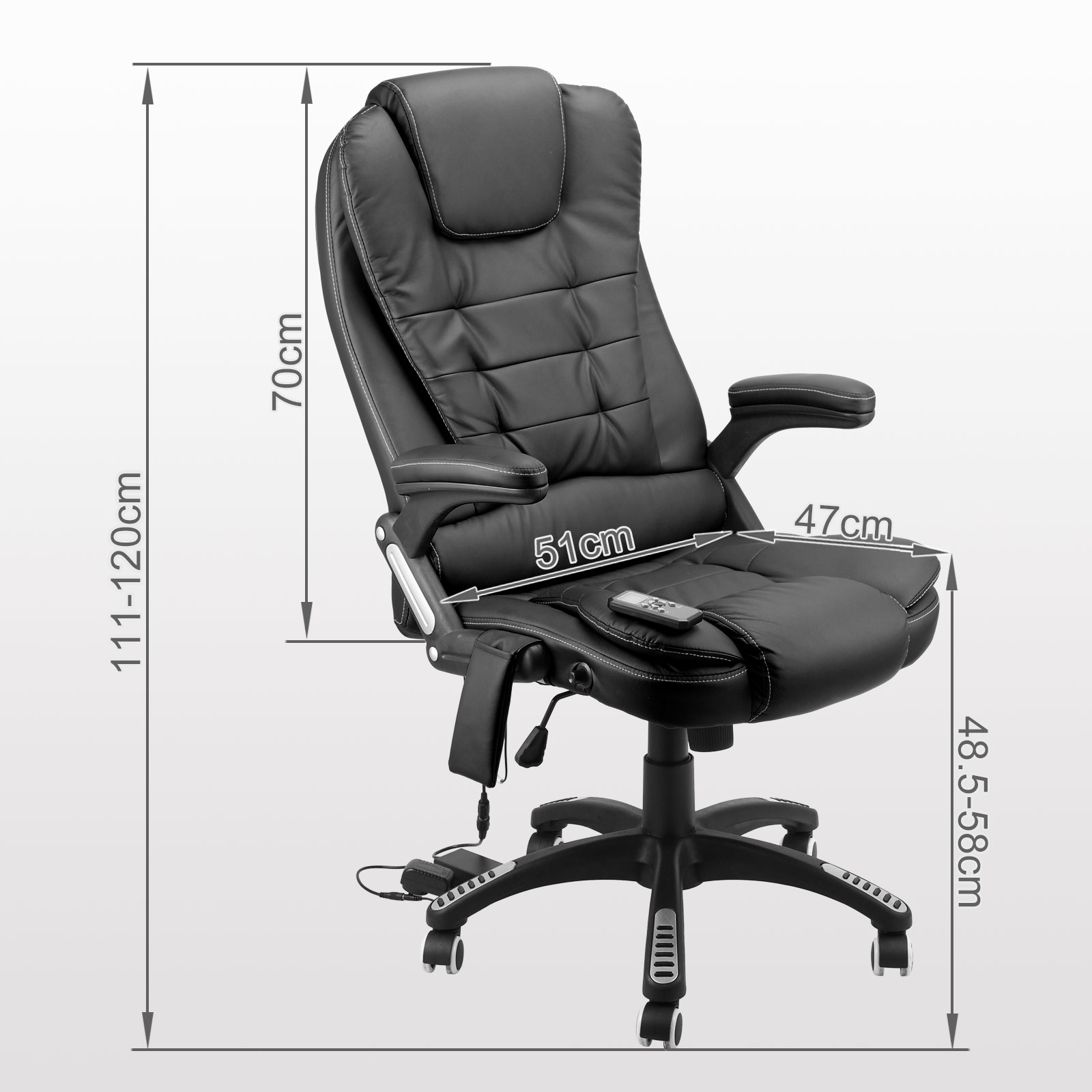 massage chair executive office computer pu leather support brown black