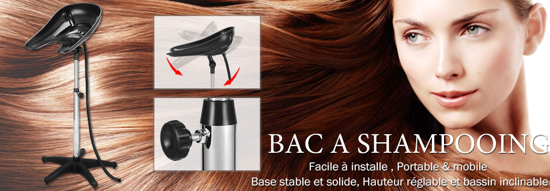 lave t te bac shampooing coiffure pied portable salon. Black Bedroom Furniture Sets. Home Design Ideas