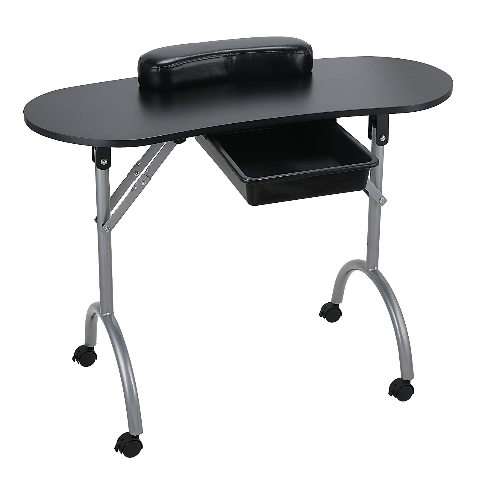 Portable manicure nail art hand table mobile foldable desk for Portable manicure table nail technician workstation