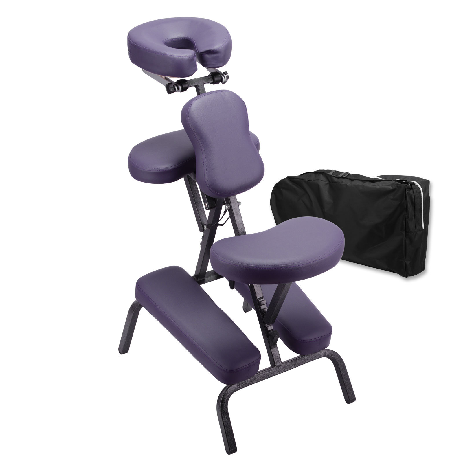 Portable foldable stool indian head massage chair office couch beauty ebay - Portable reflexology chair ...