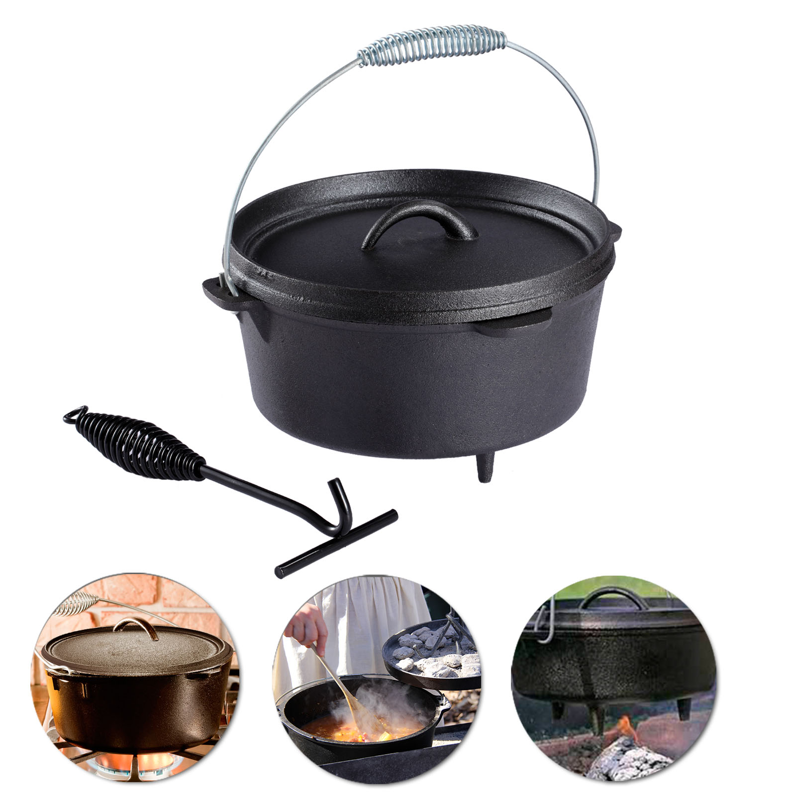 dutch oven outdoor cooking pot bushcraft cast iron