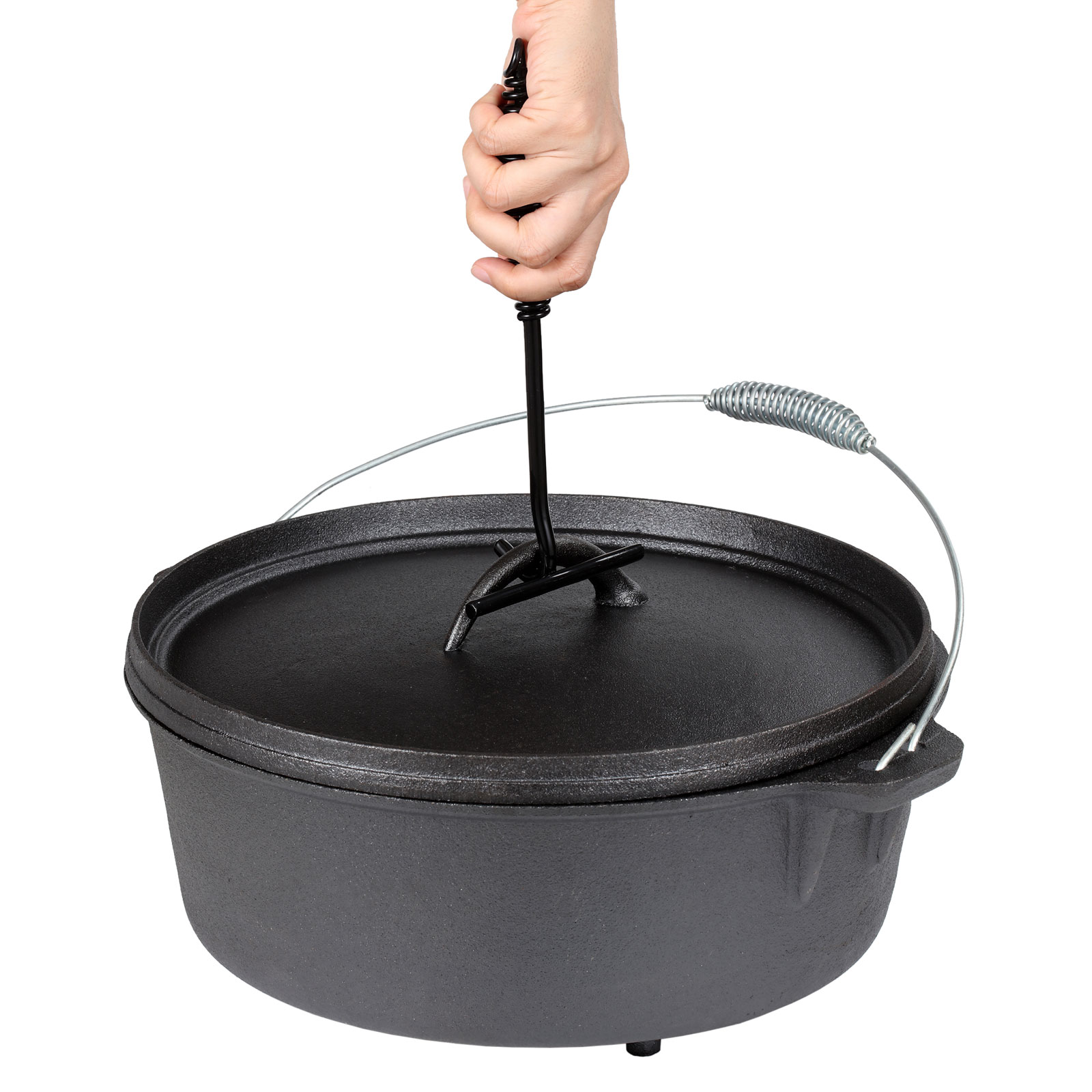 Wiltec Dutch Oven Cast Iron Kettle 1L Cooking Equipment ...