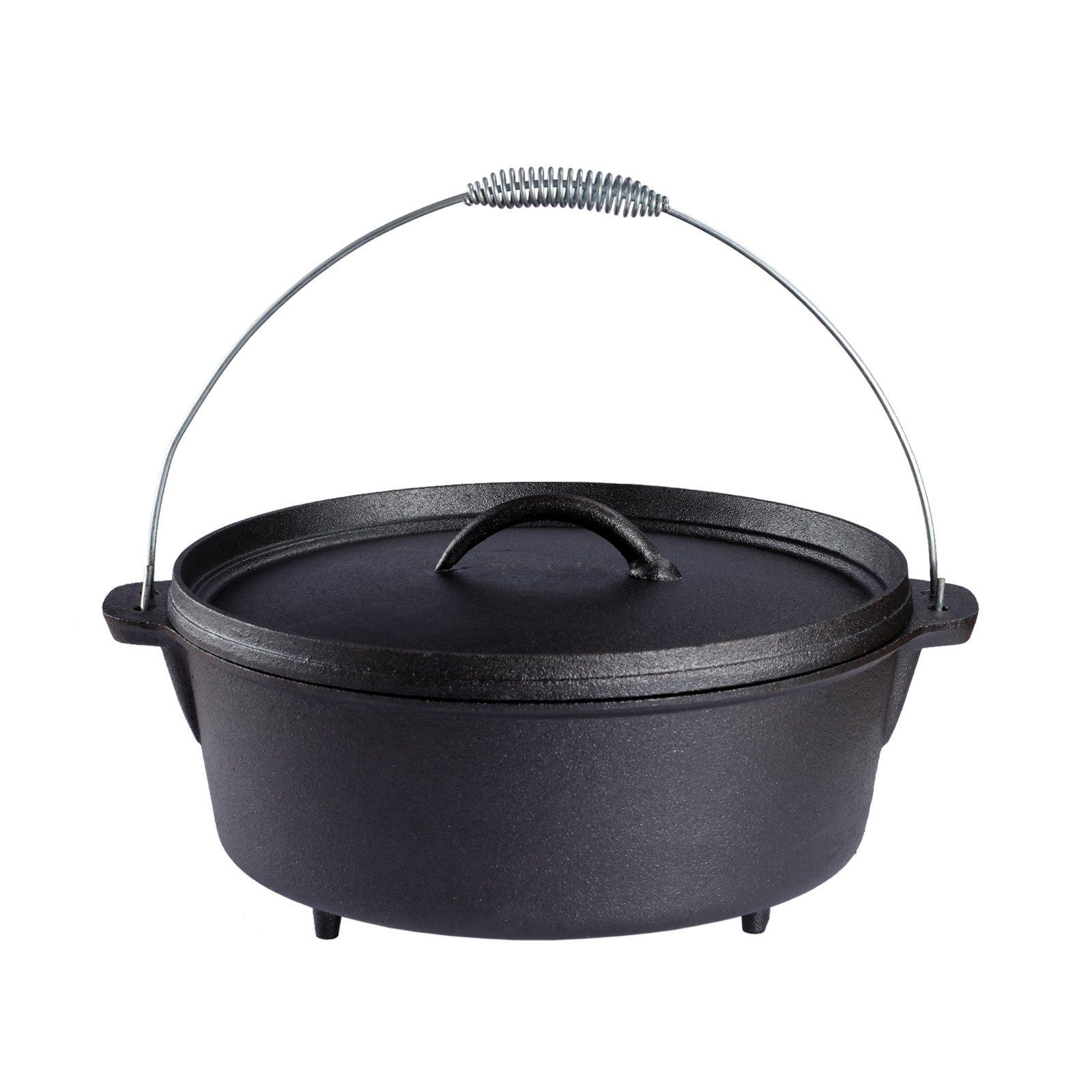 12 quart cast iron dutch oven pot outdoor kitchen campfire for Healthy dutch oven camping recipes