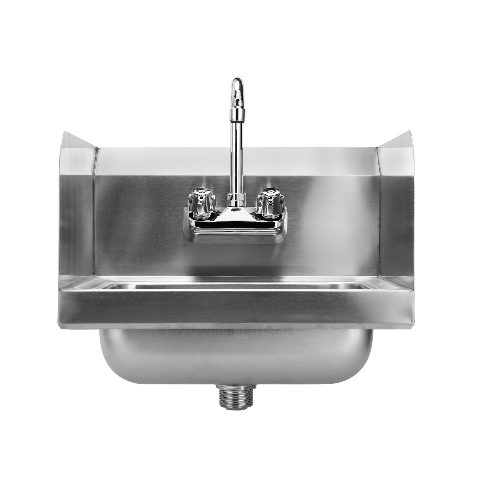 Commercial Kitchen Stainless Steel Wall Mount Hand Sink With Side Splashes Ebay