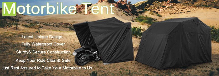 Outdoor motorcycle cover tent folding motorbike storage camping waterproof shed ebay - Motorcycle foldable garage tent cover ...