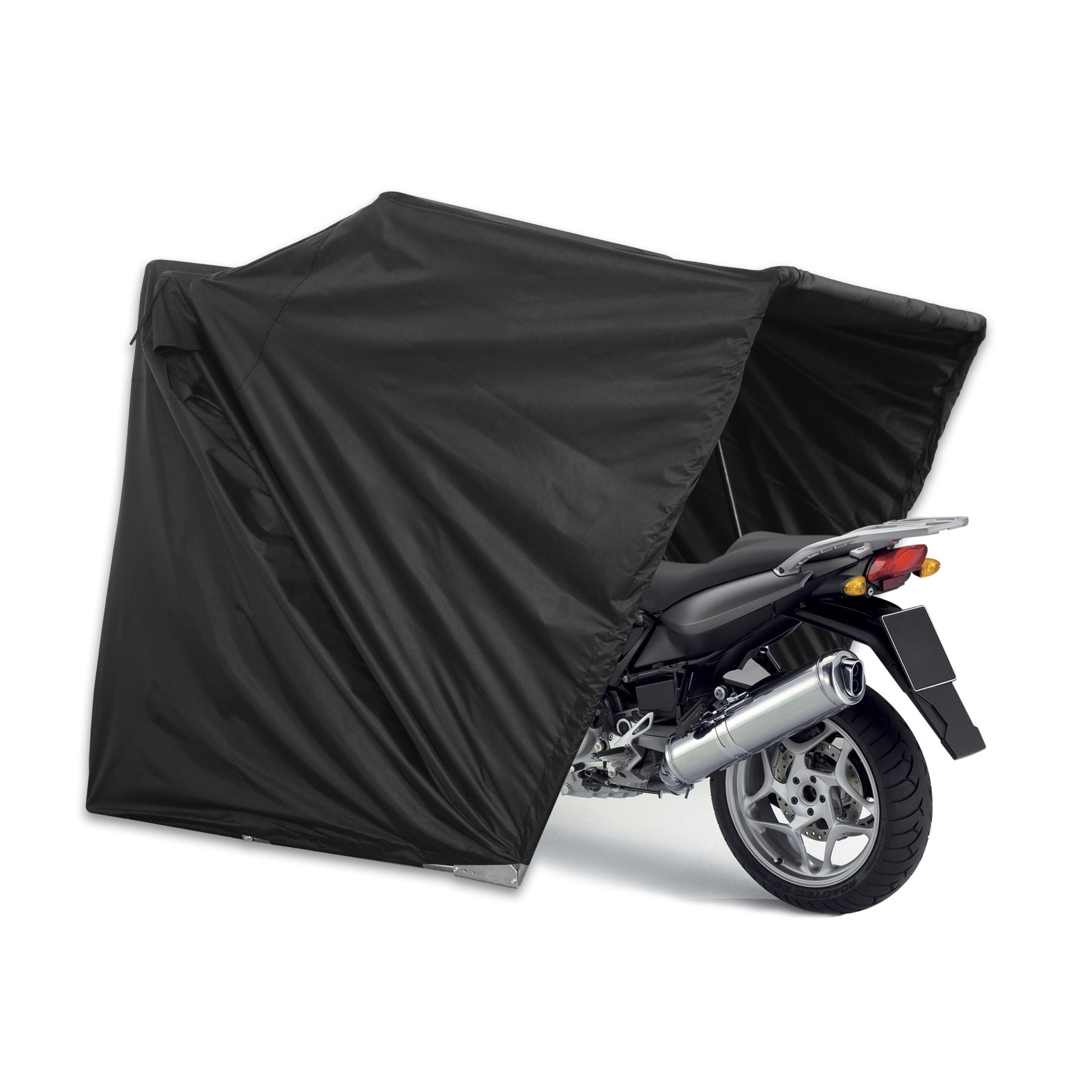 Motorcycle Sheds And Covers : Motorcycle storage tent camping motor bike folding cover