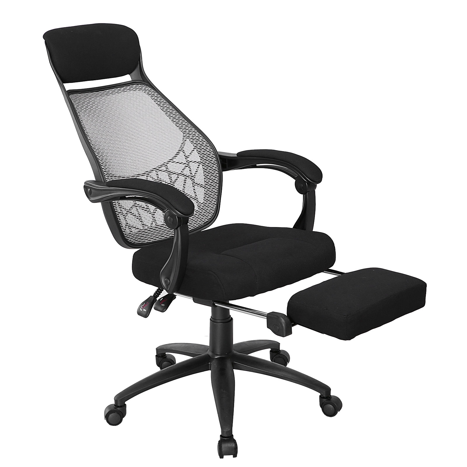 Office Computer Chair Executive High Back Mesh Seat Fabric Recline Furniture