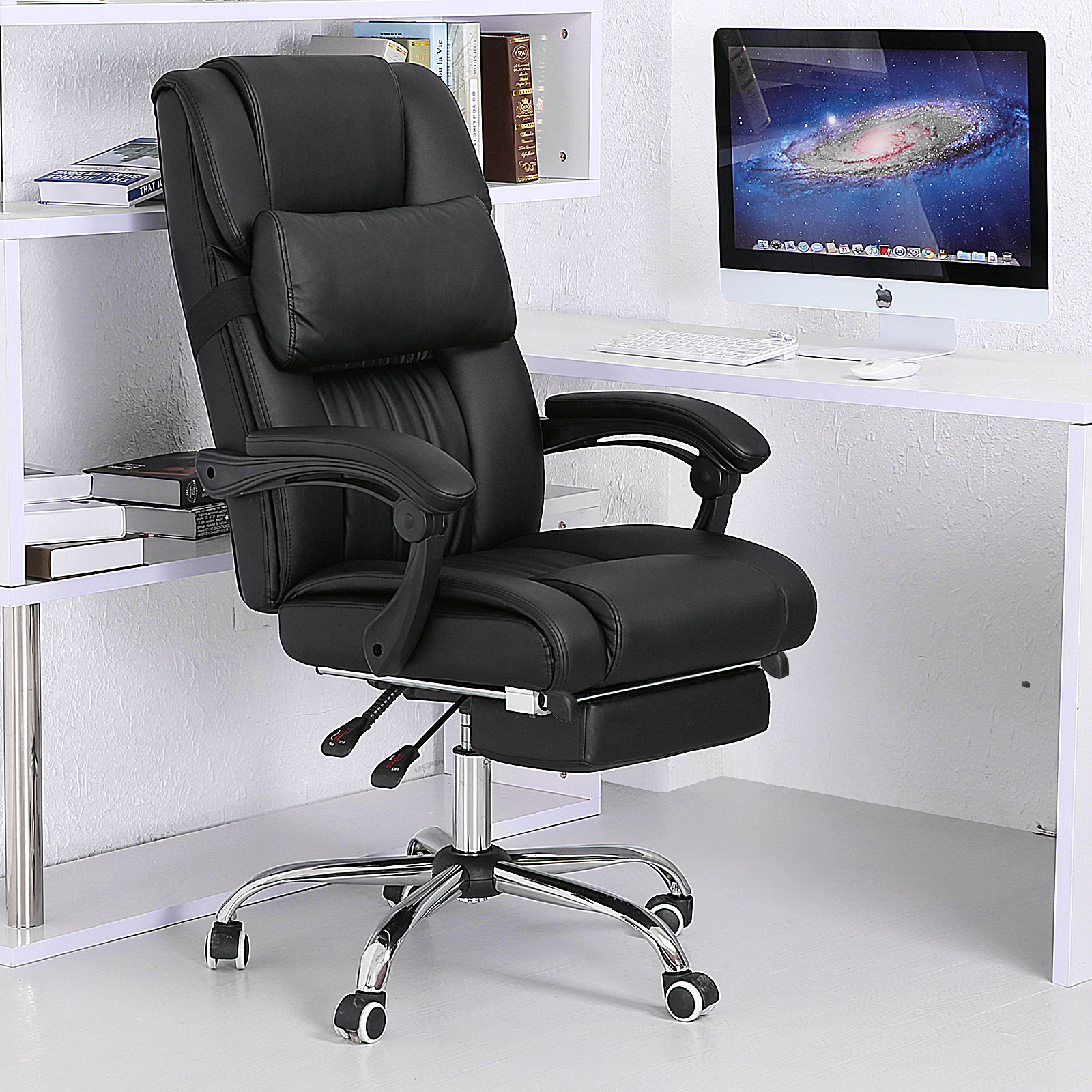 Executive office chair ergonomic high back reclining for Office furniture chairs