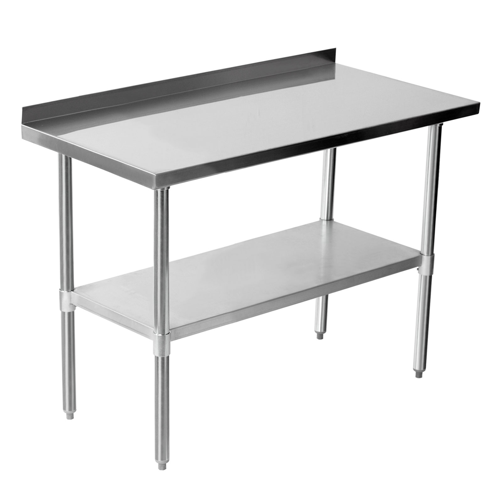 stainless steel catering table backsplash work bench kitchen